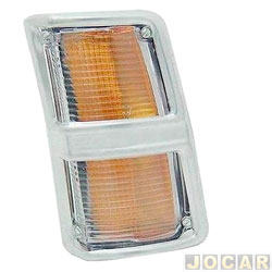 Lanterna dianteira - alternativo - JCV Lanternas - Opala/Caravan 1975 até 1979 - cristal (branca) - lado do motorista - cada (unidade) - 201190