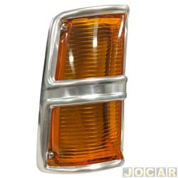 Lanterna dianteira - HT Lanternas - Opala 1988 até 1992 - cristal (branca) - lado do motorista - cada (unidade) - 201196