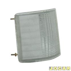 Lanterna dianteira - alternativo - Artmold - Opala 1980 até 1987 - A20/C20/D20 - 1985 até 1992 - cristal (branca) - lado do passageiro - cada (unidade) - 1014