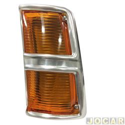 Lanterna dianteira - alternativo - Opala/Caravan - 1975 até 1979 - âmbar (amarela) - lado do motorista - cada (unidade)