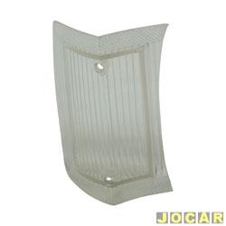 Lente da lanterna dianteira - alternativo - Opala 1969 até 1974 - branca - lado do passageiro - cada (unidade)