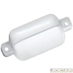 Lente lanterna da placa - alternativo - Opala até 1979 Comodoro-Diplomata 1988 em diante - cada (unidade)