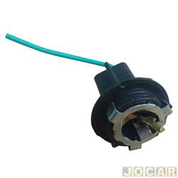 Soquete da lanterna traseira - alternativo - Opala 1969 até 1992 -  1 polo - cada (unidade)