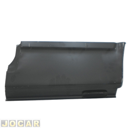 Remendo lateral - alternativo - Opala Coupé/Caravan 1969 até 1992 - 2 portas - Entre a porta e o para-lama - para pintar - traseiro - lado do motorista - cada (unidade)