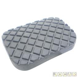 Capa de pedal - alternativo - Opala/Caravan  - freio/embreagem - preto - cada (unidade)