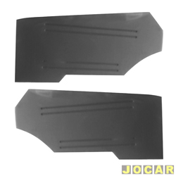 Revestimento lateral traseiro - alternativo - Opala 1972 em diante - preto - par