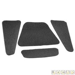 Anti-ruído do capô - Toroflex / Vibrac System - Opala/Caravan 1980 até 1990 - auto-adesivo - preto - jogo - 00314