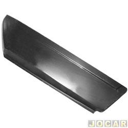Remendo lateral - alternativo - Opala 1972 até 1988 - 2 portas - Parte traseira - para pintar - traseiro - lado do passageiro - cada (unidade)