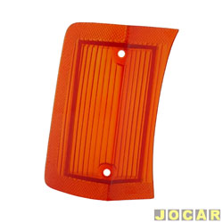 Lente da lanterna dianteira - alternativo - Opala 1969 até 1974 - âmbar (amarela) - lado do passageiro - cada (unidade)