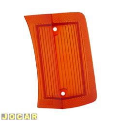 Lente da lanterna dianteira - alternativo - Opala 1969 até 1974 - âmbar (amarela) - lado do motorista - cada (unidade)