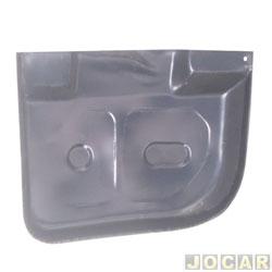 Remendo do assoalho - Opala/Caravan 1969 até 1992 - bandeja - para pintar - traseiro - lado do passageiro - cada (unidade)