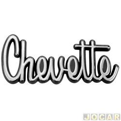 Letreiro - alternativo - Chevette 1973 até 1982 - Chevette - manuscrito - cromado - cada (unidade)