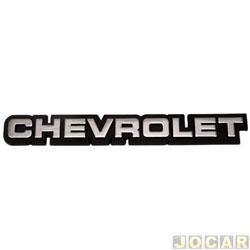 Letreiro - alternativo - Chevette/Chevy 1983 até 1995 - Monza 1983 até 1990 - Chevrolet - pequeno - fundo preto - adesivo - prata - cada (unidade)