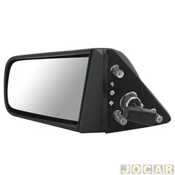 Retrovisor externo - alternativo - Metagal - Chevette 1987 em diante - com controle manual - base de fixa��o de pl�stico - lado do motorista - cada (unidade) - RG5E33CR