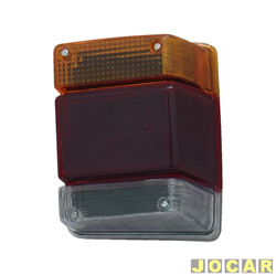 Lanterna traseira - alternativo - JCV Lanternas - Marajó 1983 até 1989 - Chevy 1983 até 1993 - tricolor - lado do passageiro - cada (unidade) - 1526.12