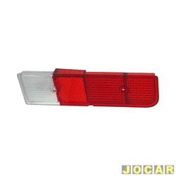 Lente da lanterna traseira - alternativo - Chevette 1973 até 1979 - bicolor - lado do passageiro - cada (unidade)
