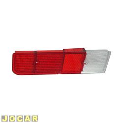 Lente da lanterna traseira - alternativo - Chevette 1973 até 1979 - bicolor - lado do motorista - cada (unidade)