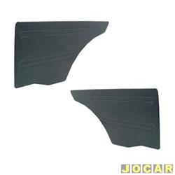 Revestimento lateral traseiro - alternativo - Chevette 1973 até 1993 - curvim - preto - par