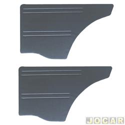 Revestimento lateral traseiro - alternativo - Chevette 1973 até 1993 - Veludo - preto - par
