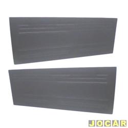Revestimento de porta - alternativo - Chevette/Marajó/Chev500  - de curvim - preto - par