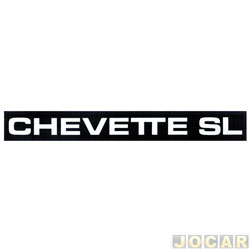 Letreiro - alternativo - Chevette 1983 até 1990 - Chevette SL - friso - par