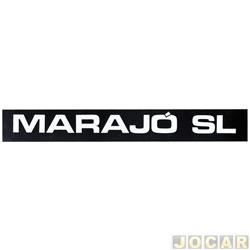 Letreiro - alternativo - Marajó 1983 até 1989 - Marajó SL - friso - par