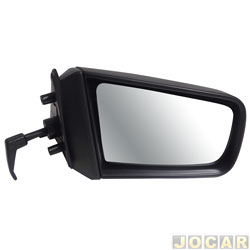 Retrovisor externo - alternativo - Cofran - Chevette/Chevy/Maraj� - 1987 at� 1995 - com controle manual - preto - lado do passageiro - cada (unidade) - 1220.1