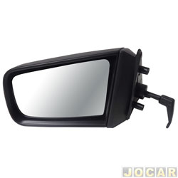 Retrovisor externo - alternativo - Cofran - Chevette/Maraj�/Chevy 500 - 1987 at� 1995 - com controle manual - preto - lado do motorista - cada (unidade) - 1221.0