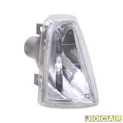 Lanterna dianteira tuning - alternativo - Inovox (RCD) - Chevette/Chevy 500/Marajó - 1983 até 1995 - Evolution - encaixe Cibié - cristal (branca) - lado do passageiro - cada (unidade) - I2276