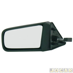 Retrovisor externo - alternativo - Retrovex - Chevette/Chevy/Maraj� - 1987 at� 1995 - com controle manual - preto - lado do motorista - cada (unidade) - 21877