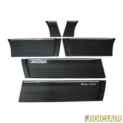 Friso lateral - Monza Classic 1985 até 1990  - 4 portas - 25 cm de largura - auto colante - preto - jogo