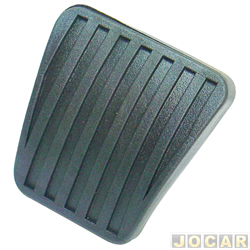 Capa de pedal - alternativo - Monza/Kadett/Ipanema/Corsa todos até 2002- Classic 2003 - em diante - Astra 1995 - para freio e embreagem - preto - cada (unidade)