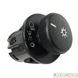 Interruptor do farol - Kostal - Monza 1984 até 1996 - Kadett/Ipanema-1989 até 1998 - redondo - preto - cada (unidade) - 4849500