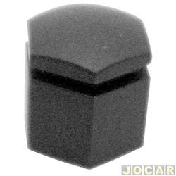 Capa parafuso da roda - alternativo - Monza  - 17mm - baixa - preta - cada (unidade)