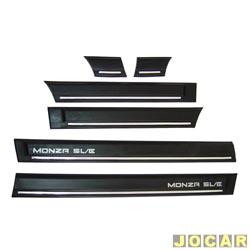 Friso lateral - alternativo - Monza SL/E - 1991 até 1993 - 4 portas auto colante - preto - jogo