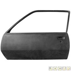 Porta - Original Chevrolet - Monza hatch 1982 até 1989 - para pintar - lado do motorista - cada (unidade) - 90035507