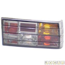 Lanterna traseira tuning - alternativo - Inovox (RCD) - Monza Sedan 1983 até 1990 - linha Evolution - fumê - lado do passageiro - cada (unidade) - I2320
