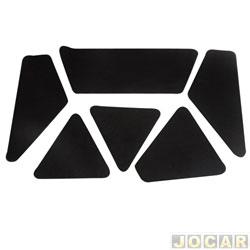 Anti-ruído do capô - Toroflex / Vibrac System - D20/A20/C20 1985 até 1996 - auto-adesivo - preto - jogo - 00305