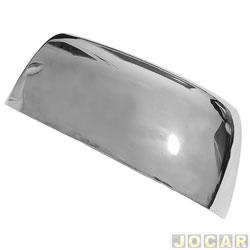 Aplique capa do retrovisor - Shekparts - Chevrolet S10 2012 até 2016 - autoadesiva - cromado - lado do motorista - cada (unidade) - 06.069
