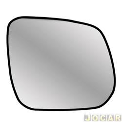 Lente do retrovisor com base - Metagal - S10/Blazer 2012 até 2017 - espelho elétrico - lado do passageiro - cada (unidade) - RGWM40