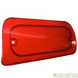Lente da lanterna do teto - alternativo - S10 1995 até 2011 - Brake lighit - vermelha - traseiro - cada (unidade)