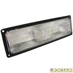 Lanterna dianteira - Arteb - Silverado - cristal (branca) - inferior - lado do passageiro - cada (unidade) - 0560108