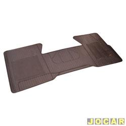 Tapete de borracha - Borcol - S10/Blazer - 1995 até 2011 - interiço (1 peça) - preto - dianteiro - cada (unidade) - 01213121