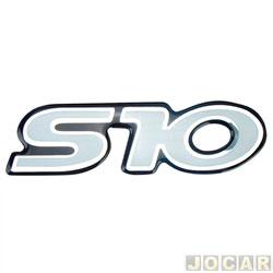 Letreiro - alternativo - S-10 - 1995 até 2011  - resinado - prata - cada (unidade)