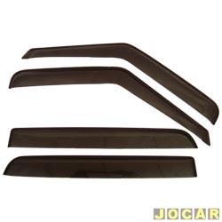 Calha de chuva - TG Poli - S10 - 1995 at� 2011 - 4 portas - acr�lica - auto-adesiva - fum� - jogo - 23008