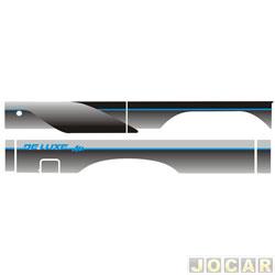 Faixa adesiva - alternativo - D-20/A-20 1985 até 1996 - cabine simples-detalhe azul - jogo