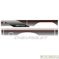 Faixa adesiva - alternativo - A-20/D-20 1993 até 1996 - cabine simples-detalhe vermelho - jogo