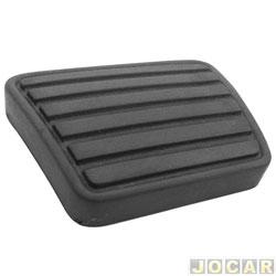 Capa de pedal - Blazer/S10 1995 até 2011 - freio/embreagem - preta - cada (unidade)