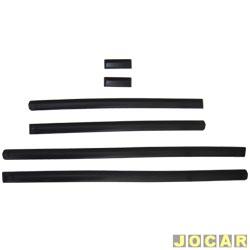 Friso lateral - S10 2001 até 2011  - 4 portas - auto colante - preto - jogo