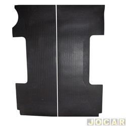 Tapete assoalho da caçamba - Borcol - S10 1995 até 2011 - (simples e estendida) com protetor de caçamba - preto - par - 01213250